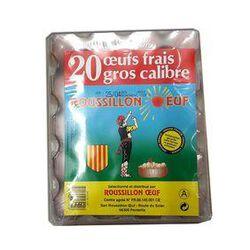 20 GROS OEUFS FRAIS - ROUSSILLON OEUF