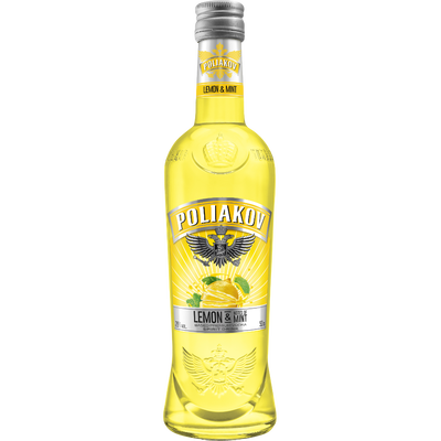 POLIAKOV shooter lemon mint, bouteille de 50cl