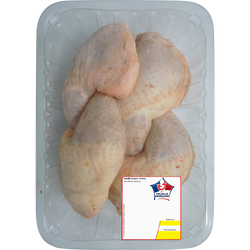 Cuisse de poulet blanc, France, 6 pièces