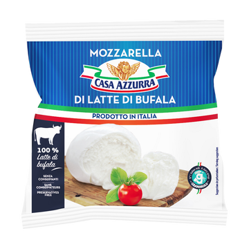Casa Azzurra Mozzarella Latte Di Bufala, Casa Azzurra, 24% De Mg, 125g