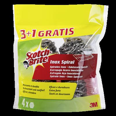Spirales inox à récurer Brittinox SCOTCH BRITE, x3