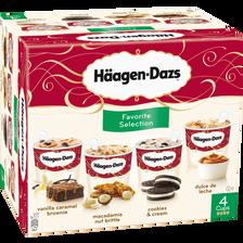 Häagen-Dazs Mini Pots De Crème Glacée Favorite Selection , 4x340g