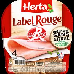 Jambon label rouge conservation sans nitrite HERTA 4 tranches 120g