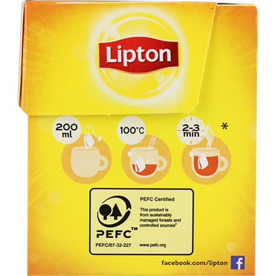Thé yellow LIPTON label, boîte de 30 sachets, 60g