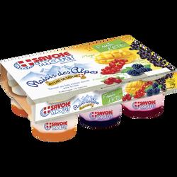 Yaourts sur lit de  fruits Double Sensation SAVOIE YAOURT, 6x125g