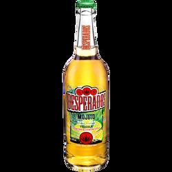 Bière aromatisée à la tequila menthe et citron vert DESPERADOS Mojito,bouteille en verre de 65cl