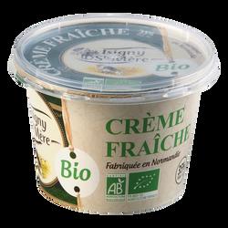 Crème fraîche bio 35% de MG, ISIGNY STE MERE, pot en plastique de 20cl