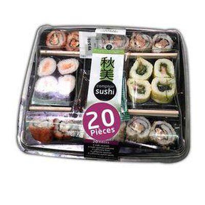 Plateau Sushi 20 pièces, 190g - COMPTOIR SUSHI