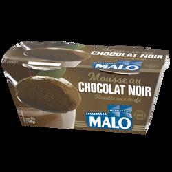 Mousse premium chocolat aux oeufs frais, MALO, 2x90g