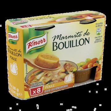 Knorr Marmites De Bouillon De Poule Knorr, 8 Coupelles, 224g