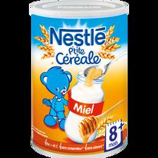 Nestlé Céréales Infantiles Miel P'tite Céréale , Dès 8 Mois, Boîte De 400g