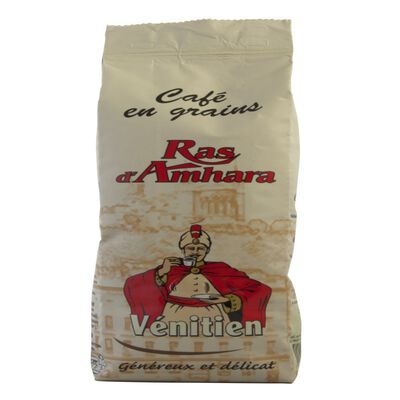 Café en grains vénitien RAS D'AMHARA, paquet de 250g