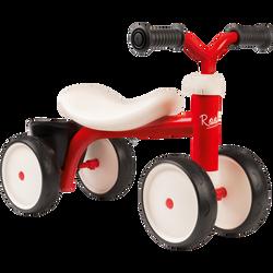 Porteur SMOBY Rookie en métal rouge-4 roues silencieuses-léger etéquipé d'1 petit coffre-poignée sous assise pour faciliter letransport-dès 12 mois