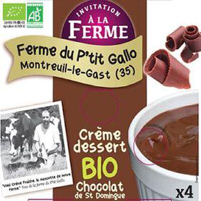 Crème dessert chocolat BIO 4x 100g
