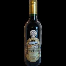 Vin de pays de la cité de Carcassonne rouge DOMAINE AUZIAS, bouteillede 75cl