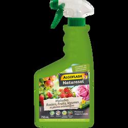 Maladies rosiers/fruits/légumes ALGOFLASH NATURASOL 750ml- fongicide prêt à l'emploi à action préventive avec effetstoppant