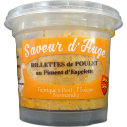 Rillette de poulet au piment d'Espelette SAVEUR D'AUGE, 220g