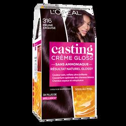 Coloration ton sur ton CASTING Crème Gloss, prune, n°316