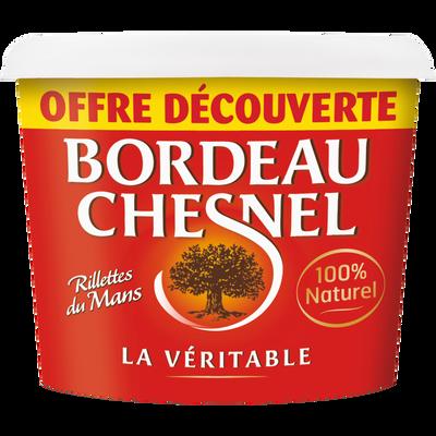 Rillette du Mans pur porc BORDEAU CHESNEL, pot de 220g
