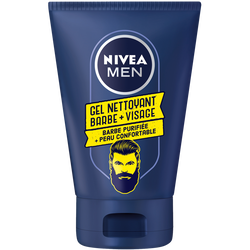 Gel nettoyant barbe + visage men NIVEA, 100ml
