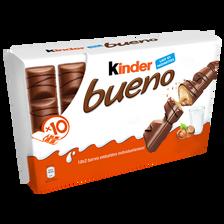 Fines gaufrettes chocolat fourrées lait noisettes KINDER, 430g
