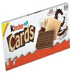 Kinder Cards  5 lots de 2 biscuits  poids total 128g