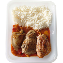 Poulet basquaise au piment d'espelette et riz, 1kg