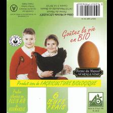 Oeufs biologiques calibre 53/63 Les Oeufs de la Bio, boite de 6