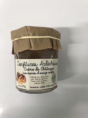 Crème de châtaigne aux écorces d'orange confites 375g SOPREG