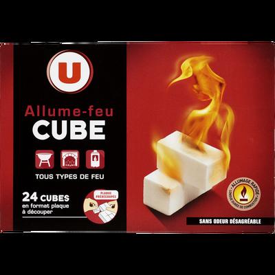 Allume-feu en cubes prédécoupés U, 24 cubes
