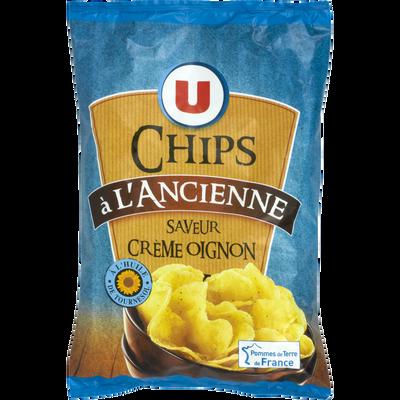 Chips à l'ancienne saveur crème et oignon U, paquet de 135g
