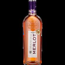 Vin rosé de pays d'Oc Merlot Grand sud, bouteille de 1l