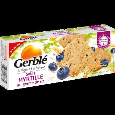 Sablé à la myrtille et au germe de riz GERBLE, boîte de 140g