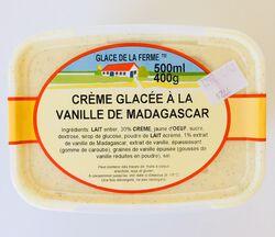 Crème glacée Vanille Noix de pécan, GLACE DE LA FERME, bac 500ml