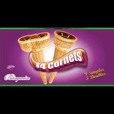 Cornets à glace assortis LA BASQUAISE, 14 unités, 60g