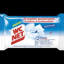 Lingettes désinfectantes WC NET, x30