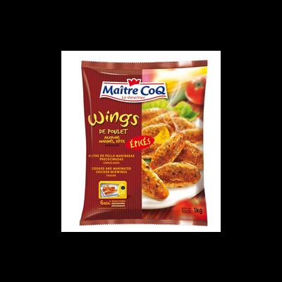 Ailerons de poulet épicés cuits MAITRE COQ, sac 1kg