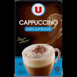 Cappuccino décaféiné U, boîte de 125g + 7g chocolat