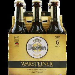 Bière WARSTEINER 4,8°, 6 bouteilles de 33cl
