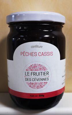 Confiture pêche cassis, Le fruitier des cévennes, 320g