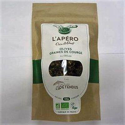 L'apéro croustillant olives graines de courge LES FRUITS DETENDUS,120g