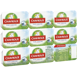 Fromage au lait de chèvre pasteurisé CHAVROUX, 13.5%MG, x9 soit 162g