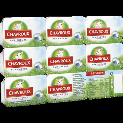 Fromage au lait de chèvre pasteurisé 13,5% de matière grasse CHAVROUX,x9 soit 162g