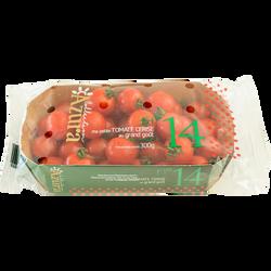 Tomate cerise, segment les cerises rondes, AZURA , calibre 25/30, catégorie 1, Maroc, barquette 300g