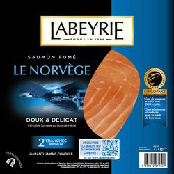 Saumon fumé Norvège LABEYRIE, 2 tranches soit 75g