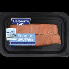 Pavé de saumon keta salé, oncorhynchus Keta, pêché en océan pacifique,transformé en France, 240g