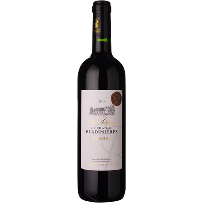 """Vin rouge AOC médaille de broze au concours de Macon Cahors la préférence du """"Château Bladinières"""", 75cl"""
