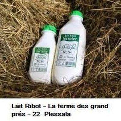 Lait Ribot fermier la ferme des grands prés 1L