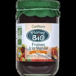 Confiture de fraises à la vanille PLANET BIO, 360g