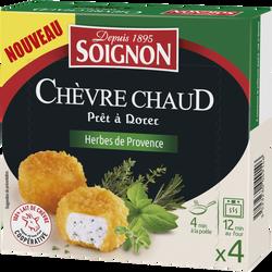 Fromages de chèvre panés aux herbes provençales 22,5% de matière grasse SOIGNON, x4 soit 100g